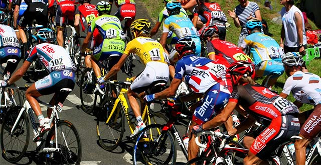 Ciclismo deporte basura tour de france