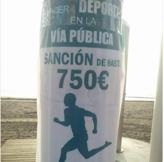 Sancion hacer deporte running
