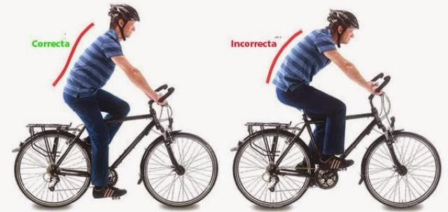 seguridad vial en bicicleta postura